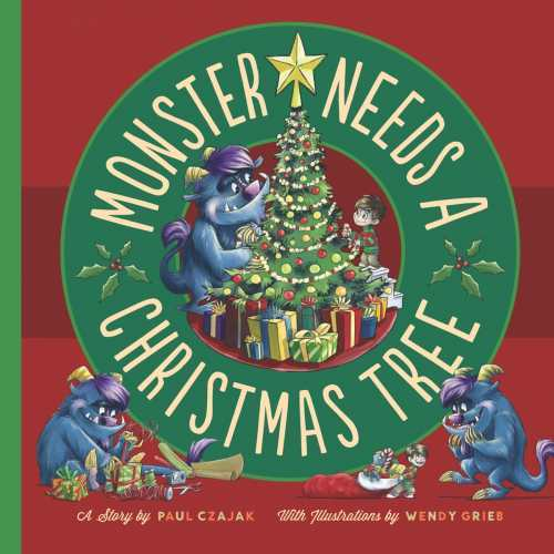 monster needs a christmas tree cover