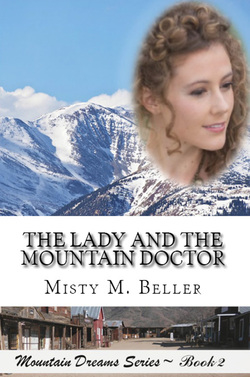 Lady and mountain