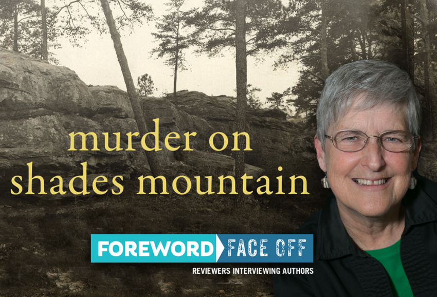 Image of Author Melanie Morrison and cover of Murder on Shades Mountain