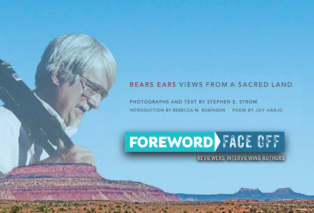 Author Strom and cover of Bears Ears