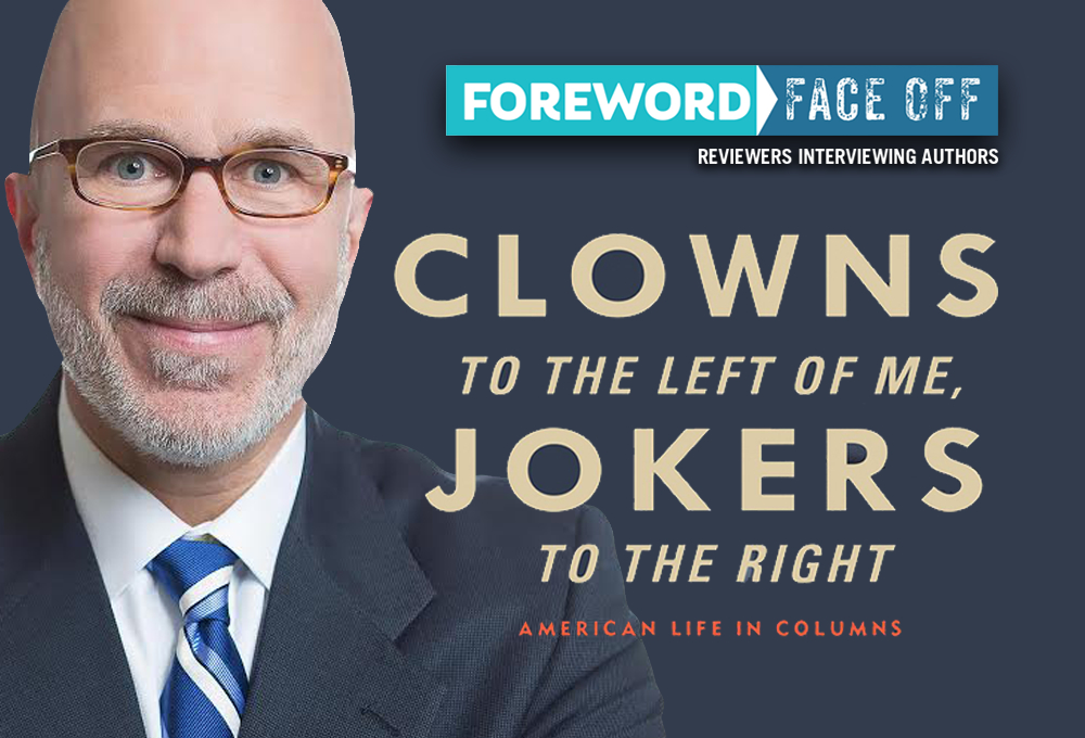 Author and cover of Clowns to the Left of Me, Jokers to the Right