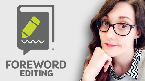 Foreword Editing logo and photo of Danielle Ballantyne