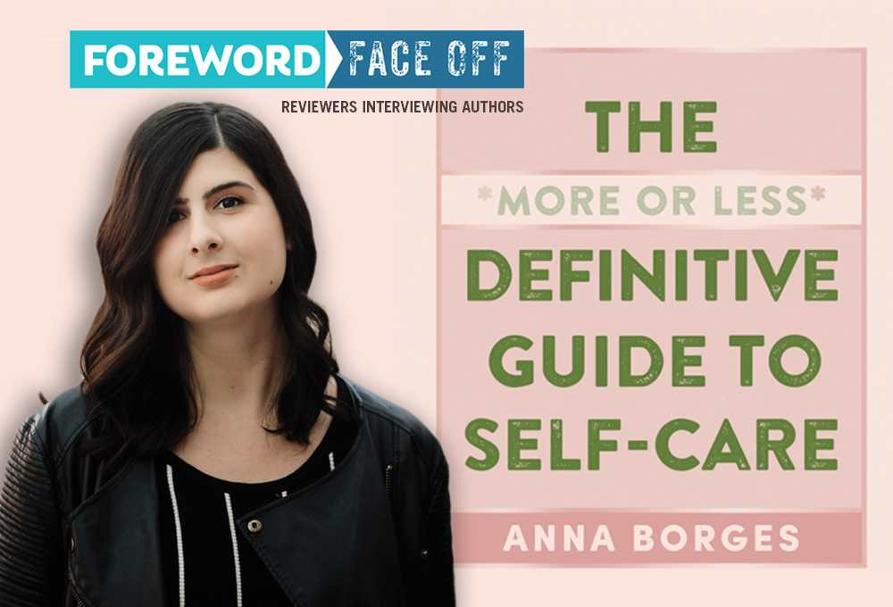 Author Anna Borgess and cover of The More or Less Definitive Guide to Self-Care