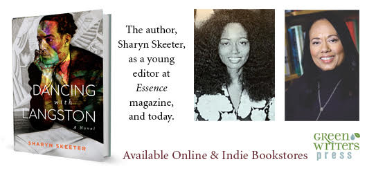 The author, Sharyn Skeeter, as a young editor at Essence Magazine, and today. Available online & Indie bookstores Green Writers Press