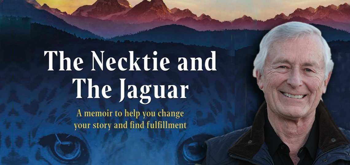 The necktie and the jaguar banner