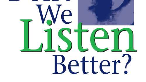 why dont we listen better Free research that covers hey dr petersen wrote 'why we don't listen better' to reach all people that wish to communicate better he drew experiences' from.