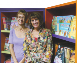 Photograph of Barefoot Books cofounders Nancy Traversy and Tessa Strickland